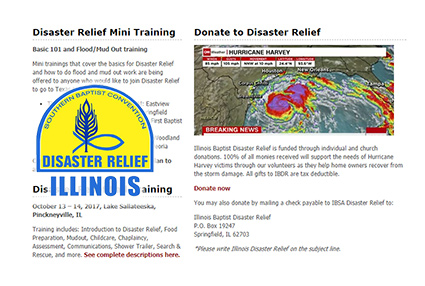 Disaster Relief Illinois SBC Southern Baptist Convention